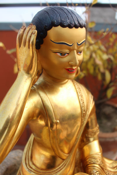 Masterpiece Gold Plated Milarepa Statue