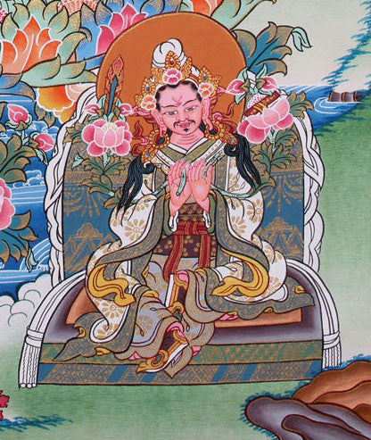 Traditional Thangka of Guru Padmasambhava