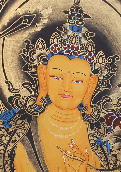 Blue Manjushree Thangka Painting