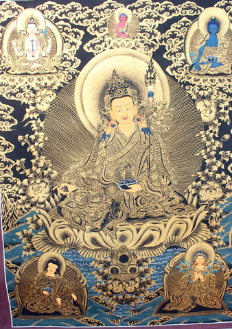 Black Guru Thangka Painting