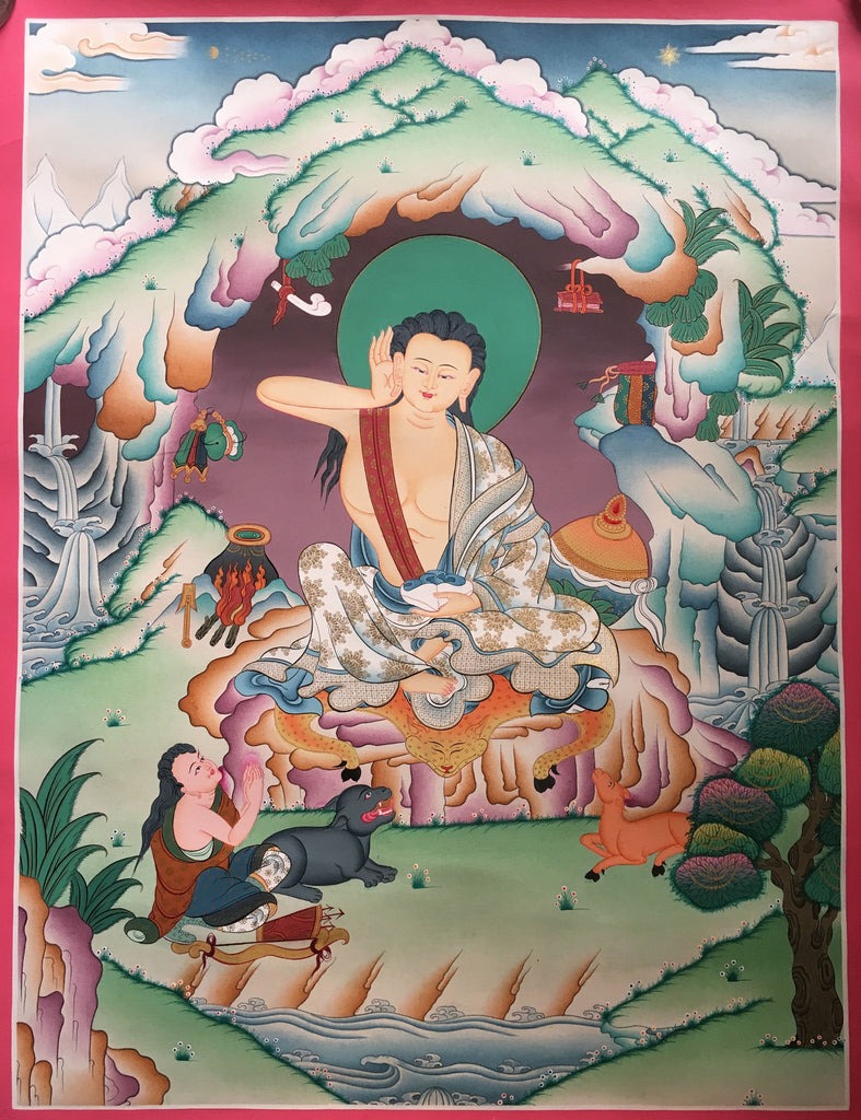Thangka of Milarepa-The great Tibetan Yogi