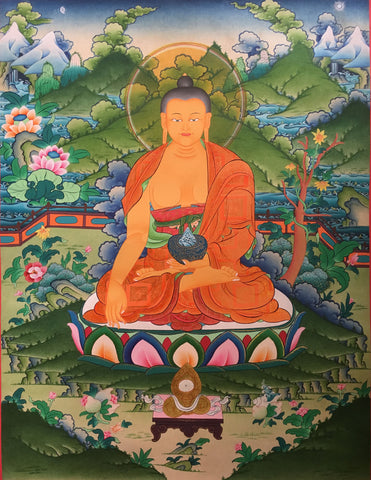 Majestic Lord Buddha Thangka
