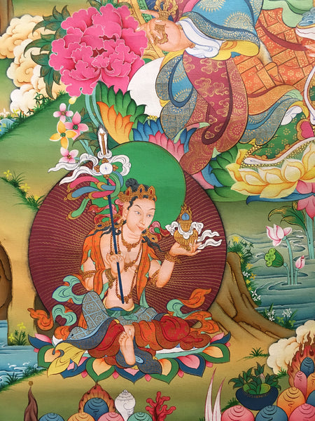 Exquisite Guru Rinpoche Thangka