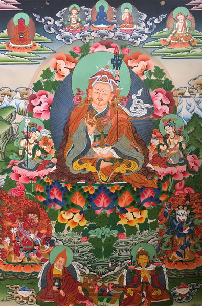 Handpainted Exquisite Guru Rinpoche Thangka