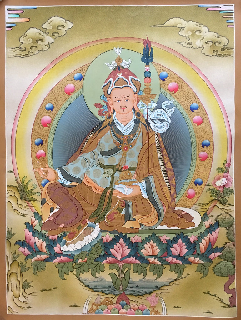 Traditional Buddhist Thangka of Padmasambhava