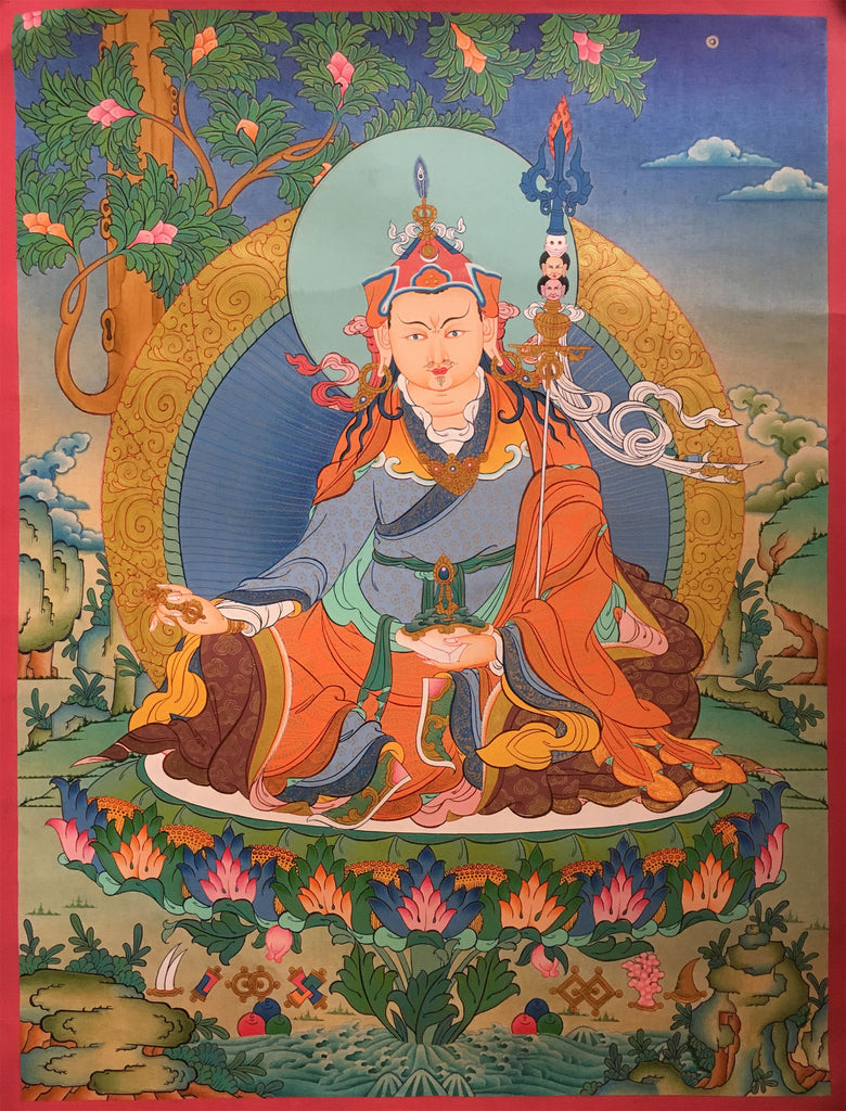 Beautiful Guru Padmasambhava Thangka