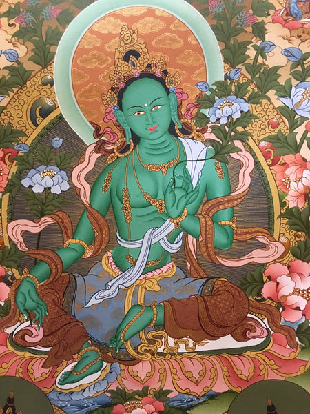 Tibetan Thangka of Green Tara