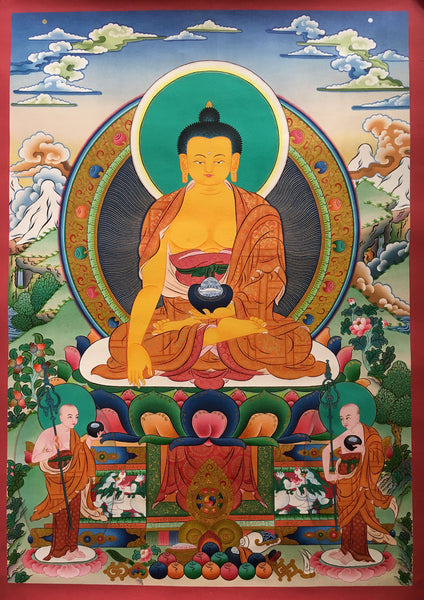Magnificent Shakyamuni Buddha Thangka Painting