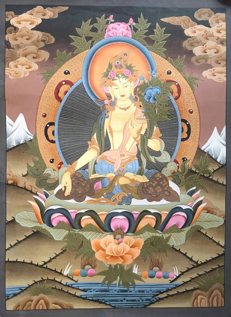 A Bright Thangka of White Tara
