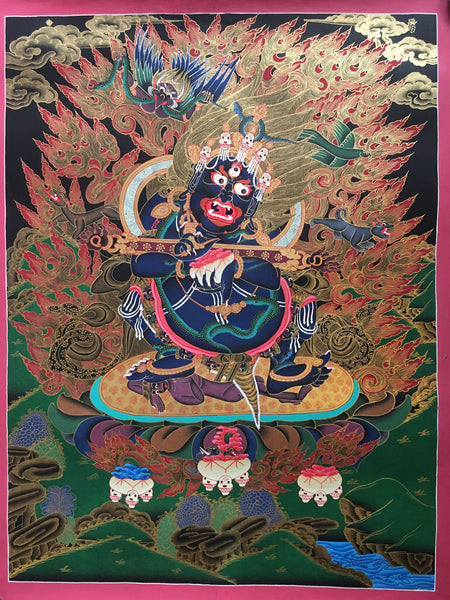 Colorful thangka of Vajrapani