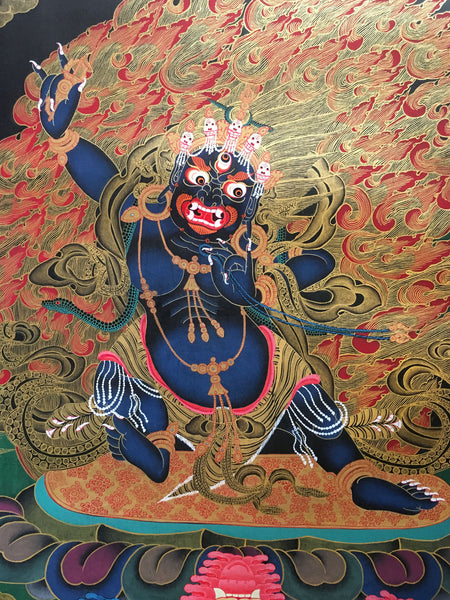 Tibetan Thangka of Vajrapani