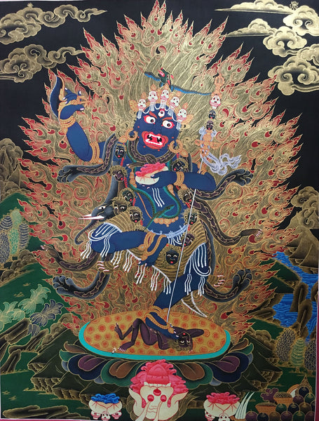 Vajrapani- The Protector Thangka