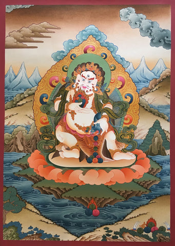 God Of Wealth Zambala Thangka