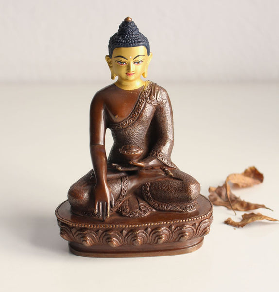 Gold Faced 5 Inch Shakyamuni Statue