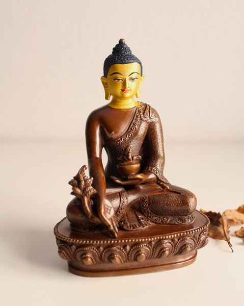Gold Faced Healing Buddha Statue