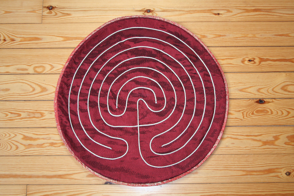 Hand-stitched Labyrinth cloths