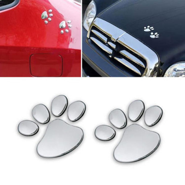3D Paw Print Car Decals