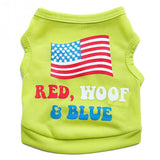 """Red Woof & Blue"" Cotton Shirt"