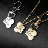 "2 Piece ""Best Friends"" Necklace & Dog Tag"