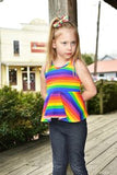 Rainbow Stripe Peplum