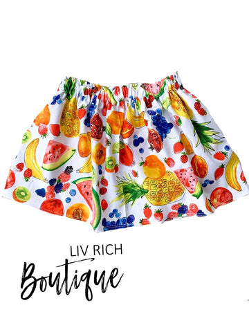 Sweet Summertime - Mixed Fruit Skirt