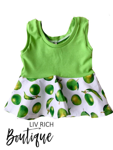 Sweet Summertime - Lime Tank Peplum