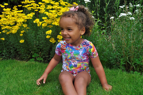Neon Animal Friends Short Sleeve Leotard