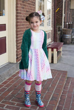 Load image into Gallery viewer, Rainbow Hearts Twirl Dress w/Lined Bodice