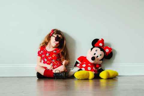 Red Girl Mouse Peplum