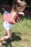 Red, White & Blue Stars Unisex Bloomies & Cuffed Shorts