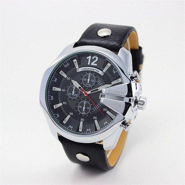 Curren Men's Retro Quartz Watch (7 colors)-Dapper Luks