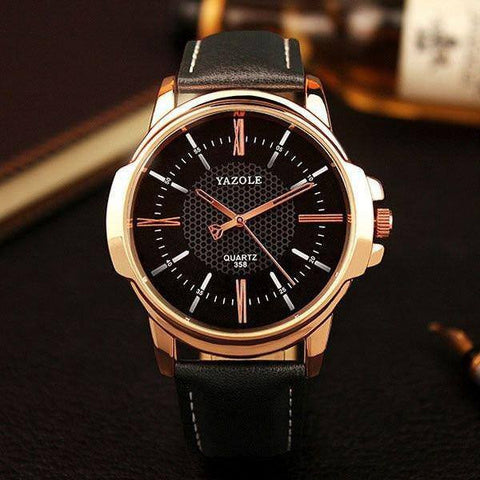Yazole Gold Men's Quartz watch (4 colors)-Dapper Luks