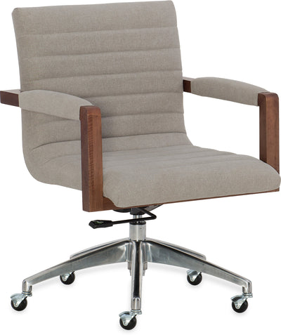 the Hooker Furniture  transitional 1650-30220-MWD home office desk chair is available in Edmonton at McElherans Furniture + Design