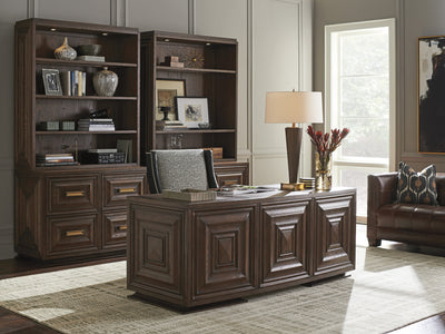 the Sligh Barrymore classic / traditional Carson home office desk is available in Edmonton at McElherans Furniture + Design