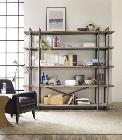 the Hooker Furniture  transitional 5382-55494 living room occasional bookcase is available in Edmonton at McElherans Furniture + Design
