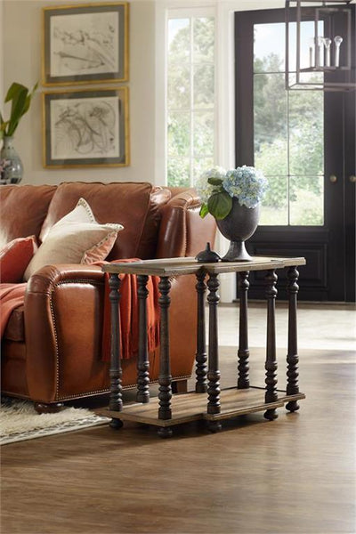 the Hooker Furniture Hill Country classic 5960-50010-MULTI living room occasional end table is available in Edmonton at McElherans Furniture + Design