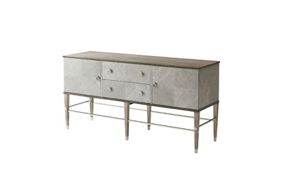 the Theodore Alexander  contemporary 6133-060 living room occasional credenza is available in Edmonton at McElherans Furniture + Design