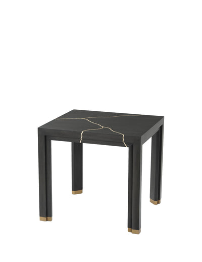 the Theodore Alexander  transitional Marloe living room occasional end table is available in Edmonton at McElherans Furniture + Design