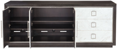 the Bernhardt Decorage contemporary 380-132 dining room buffet is available in Edmonton at McElherans Furniture + Design