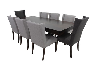 the Bermex 9 Piece Dining Room is available in Edmonton at McElherans Furniture + Design