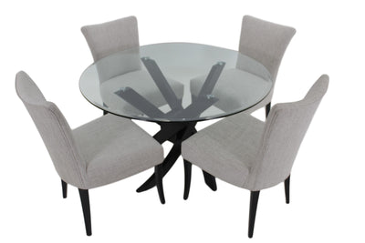 the Bermex 5 Piece Dining Room is available in Edmonton at McElherans Furniture + Design