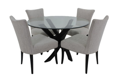the BDM  transitional TBRGL-100 dining room dining table is available in Edmonton at McElherans Furniture + Design
