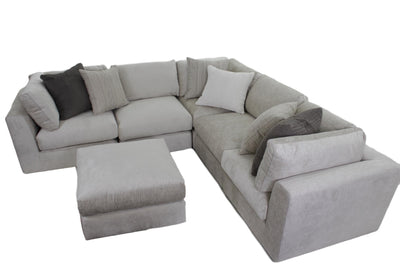 the Bernhardt Plush transitional Oasis living room upholstered sectional is available in Edmonton at McElherans Furniture + Design