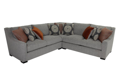 the Bernhardt  transitional Germain living room upholstered sectional is available in Edmonton at McElherans Furniture + Design