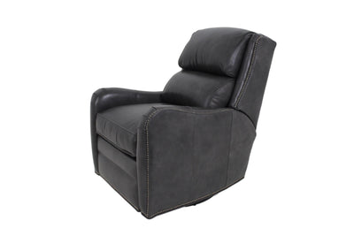 the Bradington Young  transitional Henley living room reclining leather recliner is available in Edmonton at McElherans Furniture + Design