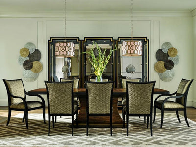 the Lyric 9 Piece Dining Room is available in Edmonton at McElherans Furniture + Design