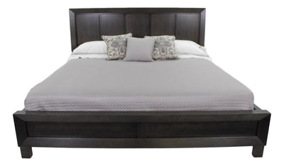 the Durham Odyssey transitional 186-144 bedroom bed is available in Edmonton at McElherans Furniture + Design