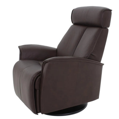 the Fjords  contemporary Venice Large living room reclining leather recliner is available in Edmonton at McElherans Furniture + Design