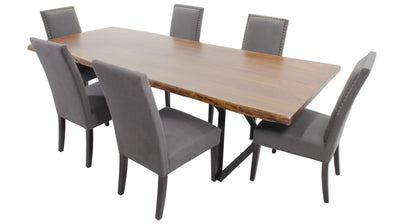 the 7 Piece Dining Room Package is available in Edmonton at McElherans Furniture + Design