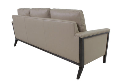 the Hancock & Moore  transitional Ava living room leather upholstered sofa is available in Edmonton at McElherans Furniture + Design
